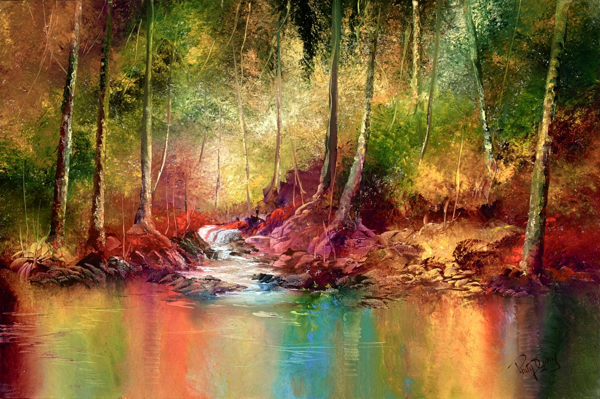 Rainforest Reflections V by philip gray -  sized 36x24 inches. Available from Whitewall Galleries